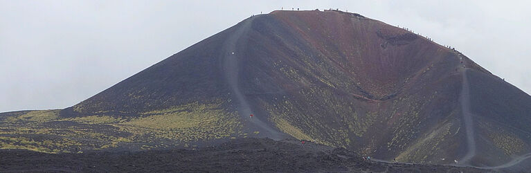 Crateri Silvestri, a volcanic cone on the S. flank of Mt. Etna, Sicily (Photo: T. Griffiths)